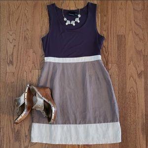 Cynthia Rocket Color Block Linen Cotton Tank Dress